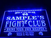 bar club names - DZ040 b Name Personalized Custom Fight Club Bring Your Weapon Bar Beer Neon Sign JPG