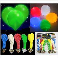 Wholesale 2014 colors Flashing balloon Light balloon new christmas colorful LED light balloon wedding celebration party bar topB772