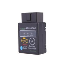 Wholesale Auto HH Car Diagnostic Tool Mini ELM327 elm Bluetooth V2 OBDII OBD2 OBD Scanner Tester Works on Android Symbian Windows