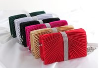 Wholesale Designer evening bags socialite satin clutch hand bags colors sized x10 x4 cm