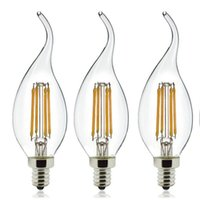 replacement led lights - DHL Free Dimmable W Soft White K LED Filament Candelabra Bulb C35 Bent Tip LED Candle Light Bulb W Incandescent Bulb Replacement E12