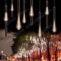 christmas - 50CM Meteor Shower Rain Tubes LED Light For Christmas Wedding Garden Decoration V EU Warm White SV000014