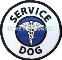 assistance dogs - Halloween Service Dog Guide Animal Medical Disability Assistance Pet Iron On Sew On Patch Tshirt TRANSFER MOTIF APPLIQUE Rock Punk Badge