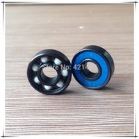 ball bearing races - L selling black hybrid ceramic ball bearing speed racing inline tide empty ball ZrO2 skateboard part