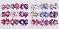 american flag clip - HAPPY NEW pc inch baby girl American flag hair bows with clips YA