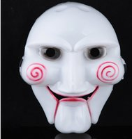 horror - Horror Halloween Mask SAW mask Saw Mask Puppet Masquerade Mask Chainsaw Massacre Scary Cosplay Halloween Party Costume MASK LJJA2042