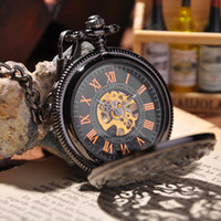 Wholesale Steampunk Pocket Watch New Design Luxury Brand Fashion Skeleton Watches Hand Wind Mechanical Pocket Watch