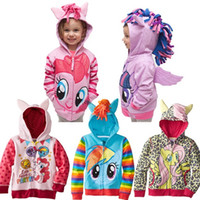 Wholesale my little pony clothes my little pony hoodies children kids cartoon hoodies children clothing zipper outerwear hoodies