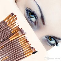 Wholesale Hot Sales as a set Pro Makeup Cosmetic Eye Brushes Kit Eyeshadow Eyebrow Tools Plastic Handle Multi Color IA3