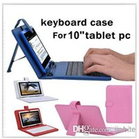Wholesale 10 quot inch keyboard case Leather case with usb micro keyboard bracket for inch apad epad ebook mid Tablet PC JP10