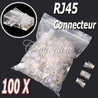 Wholesale Clear Metal RJ45 RJ UTP CAT5 Cat5E Crystal Modular Plug Ethernet Lan Networking Network Connector order lt no track