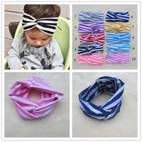 baby milk band - children s hair color striped silk baby baby milk headband wave band Girl hair band Children s Hair Accessories