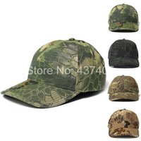 fitted hats - Fashion Military Outdoors Baseball Caps Tactical Boa Grain Bionic Camouflage Sun Hat Fit For Cosplay
