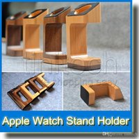 Wholesale For Apple Watch iWatch mm mm Wooden Wood Charging Stand Charger Cord Station Desktop Dock
