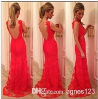 Wholesale women blue red long lace dress backless party dress vestido de festa new arrive