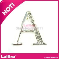 big decorative letters - Letter Brooch with big rhinestone crystal decorative clothing