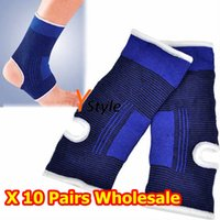 Wholesale New Style Blue Stretchy Protection Brace Supports for Ankles Healthy Nursing Ankle Gym Pairs