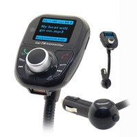 Wholesale Bluetooth FM Transmitter Car Kit Handsfree MP3 Music Player Radio Adapter with Remote Control Echo Cancelation Noise suppression