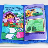 3-4 Years comic books - Dora the Explorer Dora Camping Adventure Plush Talking Book Bedtime Story Baby Tale Book pages cm cm