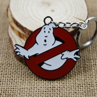 Gold anime - Keychain Extreme Ghostbusters Pendant Key chains Zinc Alloy keychains Ring COS Cartoon Anime Movies KC022