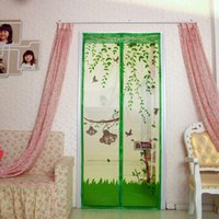 Wholesale Delicate Cartoon Monkey Magnetic Mesh Net Screen Anti Mosquito Bug Fly Home Gate Door Curtain AF0165