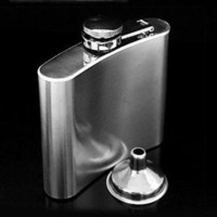 Wholesale 8 oz portable stainless wine pot British fashion stainless steel flagon stainless hip flasks OZ