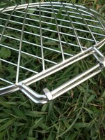 barbecue grill net - Outdoor Barbecue Grill Accessories Clip Stainless Steel Fish Bake Net High Quality Multifunctional Barbecue Grill