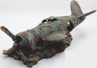 Wholesale Resin dekorasi akuarium tangki ikan kerajinan gua pesawat kecelakaan pesawat buatan tangki ikan dekorasi rumah rumah ornamen lansekap
