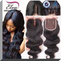 brazilian lace closure - 7A Body Wave Lace Closure With Baby Hair Brazilian Human Hair Body Wave Hair Closures Bleached Knots Free Middle Part