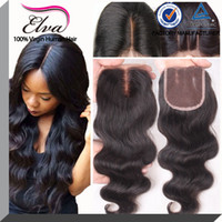 brazilian lace closure - 7A Cheap Lace Closure x4 Brazilian Virgin Human Hair Body Wave Top Lace Closures Pieces With Bleached Knots Free Middle Way Part