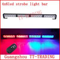 emergency light bar - Wireless control Car Strobe Light bar LED Police warning Lights emergency strobe lights DC V inch red blue white amber