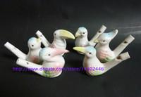 al por mayor silbatos de pájaro-500pcs venden al por mayor el pájaro esmaltado de cerámica del siluro-pavo real del pájaro del pájaro de la arcilla del silbido del pájaro de agua de la llegada del nuevo dropship envío libre