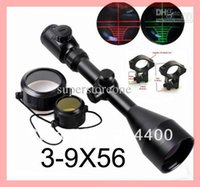 Wholesale Hot x56 Red and Green Illuminated Air Rifle Gun Optics Sniper Hunting Scope Sight Rail Mounts Airsoft