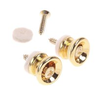 acoustic electric bass guitar - Silver Metal Strap Lock pin button For Electric Acoustic Guitar Bass I48 Black Silver Gold