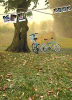 beautiful outings - 200CM CM backgrounds They travel two bicycle outings beautiful autumn scene photo memorie photography backdrops photo LK