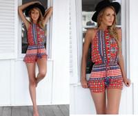 2015 pagliaccetti Donne tuta sexy breve tuta casuale Backless Summer Beach Jumsuit tutina donne abbigliamento estivo