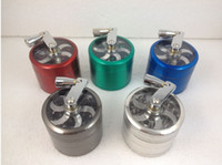 parts for - 55mm Tobacco Herb Grinder Layer Parts Hand Grinders Herb Cigarette Smoking Spice Crusher With Handle Rolling For Tobacco epacke free