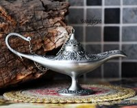 Wholesale Aladdin Magic Lamp silver Colored Vintage Retro Souvenir Collectable high quality Arts and Crafts Lamp of Aladdin
