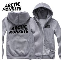 arctic monkeys hoodie - Men s Autumn and winter long sleeve shirt plus size sports Arctic monkeys Hoodies for men man fleece zipper cotton Sweatshirt