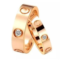 Wholesale Hot fashion brand L stainless steel screw love Finger Ring multicolors plating no stone style lovers jewelry