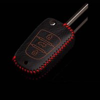 key cover - Car Remote Key Case Cover Genuine Leather For FOR KIA K2 RED Line Factory