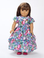 Wholesale 2016 New style popular flower dress baby doll clothes inch american girl doll clothes and accessories