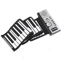 Wholesale Roll Up MIDI Soft Key Synthesizer Electronic Piano Keyboard Mic Jecksion