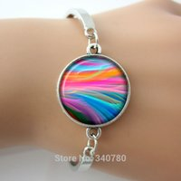 abstract ring silver - Rainbow abstract bangle bracelets summer new Mod jewelry fashion charm bracelets for women gold bangle wristband