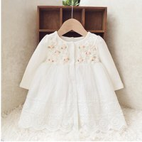 infant girl dresses - Retail autumn new born baby dress soft and cute floral lace princess infant dress baby girls dress Honey Baby clothes pink
