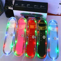 Passive best skateboard design - Best Christmas Gifts Super Cool Skateboard Scooters Design Bluetooth Mini Wireless Speakers with Colorful LED Light FM Radio MP3 Music Playe