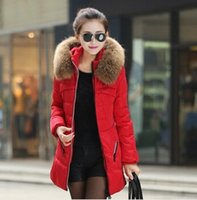 Hooded fur collar - Winter Women Jacket Coat Thicken Slim Female Fur Collar Long Down Coat Casual Parka Plus Size XL
