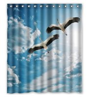 Wholesale Customized two birds fly in the sky custom Shower Curtain Large Size x180 cm Waterproof Fabric Shower Curtains