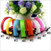 Wholesale 8 Colors Adjustable Pet Collars Leashes Dog Cat Collar Neckerchief Brand New Style dog collars with LED light