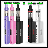 Wholesale Newset Kanger Subox mini nano starter kit high clone Sub tank OCC RBA atomizer RDA KBOX Variable Wattage Box Mods E cigs vapor